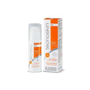 Tecnoskin Protección Solar – Crema Facial con Color SPF 50+